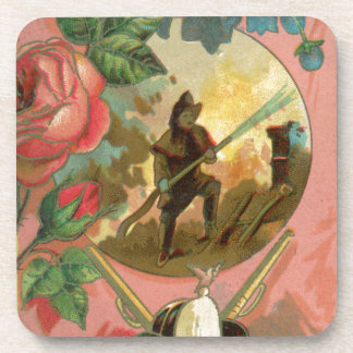 Vintage 1880's Fireman Firefighter Cover Coaster