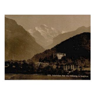 Vintage, 1890, Interlaken and the Jungfrau range Postcard