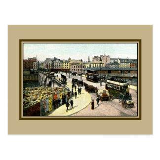 Vintage 1890s Glasgow Bridge Glasgow Scotland Postcard