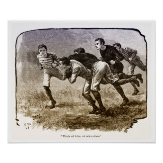 Vintage 1890's Rugby Archival Print