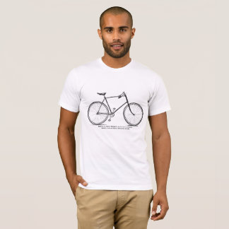 Vintage 1893 Fowler Wheels Bicycle Illustration T-Shirt