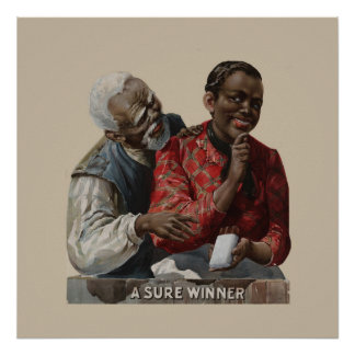Vintage 1895 Cigar Ad African American Couple Poster