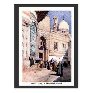 Vintage 1900 Cairo Egypt A Khedivial School Postcard