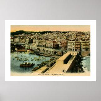 Vintage 1900s Algiers general view Poster