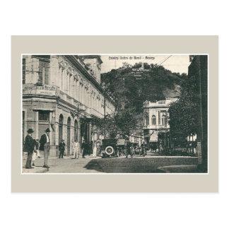 Vintage 1900s Santos busy street scene Brazil Postcard