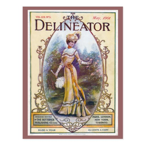Vintage 1901 Delineator Magazine Cover Postcard