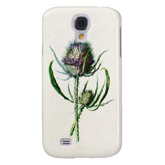 Vintage 1902 Old Scottish Thistle Wild Flower Samsung Galaxy S4 Case