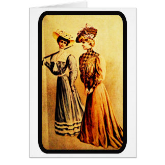 Vintage 1905 Ladies Fashion Note Card
