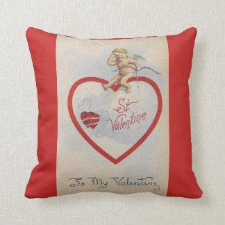Vintage 1909 St. Valentine Heart with Cute Cherub Cushion