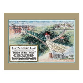 Vintage 1912 Electric railroad line Baltimore MD Postcard