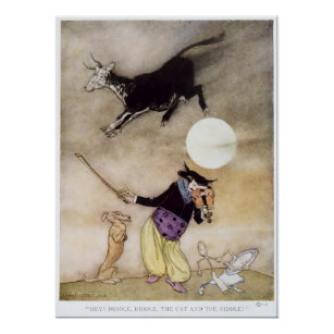 cow jumped over the moon posters  photo prints  zazzle au