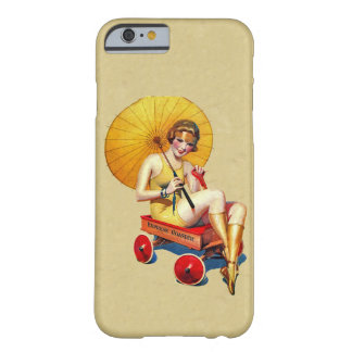 Vintage 1920's Flapper Lady Umbrella Wagon Bathing Barely There iPhone 6 Case