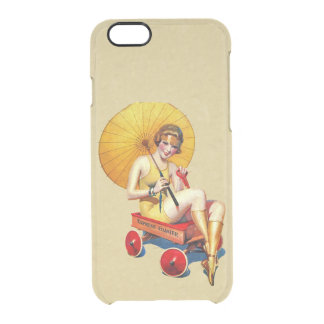 Vintage 1920's Flapper Lady Umbrella Wagon Bathing Clear iPhone 6/6S Case
