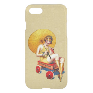 Vintage 1920's Flapper Lady Umbrella Wagon Bathing iPhone 7 Case