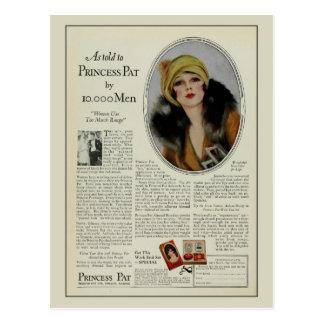 Vintage 1920s cosmetics magazine ad postcard