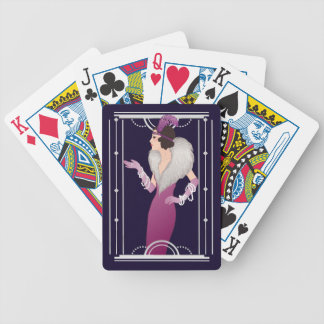 Vintage 1920's Flapper Bicycle Playing Cards