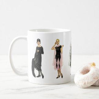 Vintage 1920s Flapper Fashion Coffee Mug