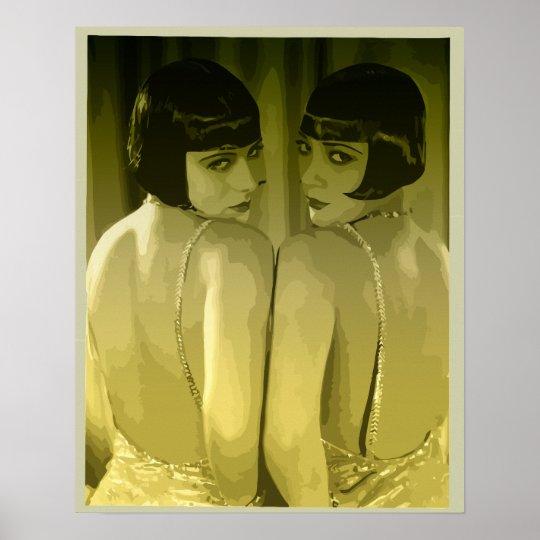 """vintage 1920s flapper girls pop art """"moss"""" poster"""