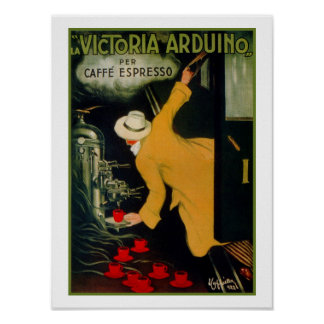 Vintage 1920s Italian coffee machine ad Poster