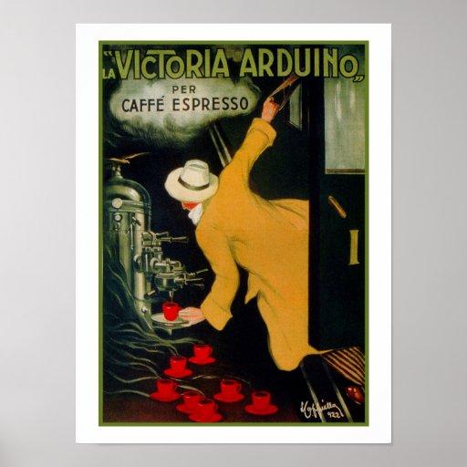 Vintage 1920s Italian coffee machine ad Poster