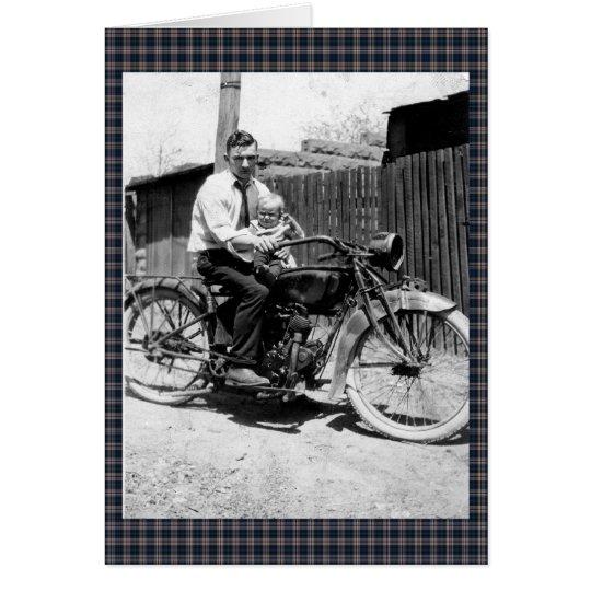 Vintage 1920s Motorcycle Card