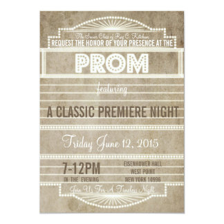 Vintage 1920's Movie Marquee Prom Invitation