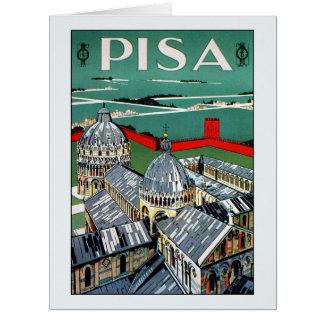 Vintage 1920s Pisa Italian travel Card