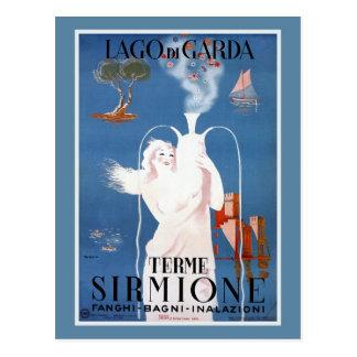Vintage 1920s Sirmione Italian travel ad Postcard