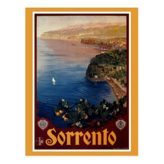 Vintage 1920s Sorrento Italian travel Postcard