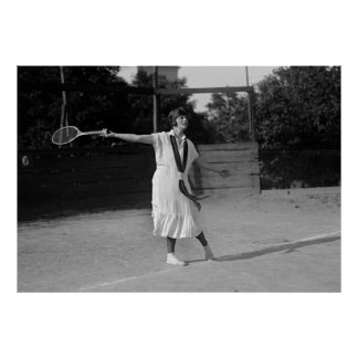 Vintage 1920s Tennis Form & Fashion Poster