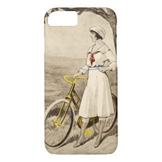 Vintage 1920s Woman Bicycle Advertisement iPhone 7 Case