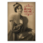 Vintage 1920s Woman Who Is Retro, Not Old Birthday Card