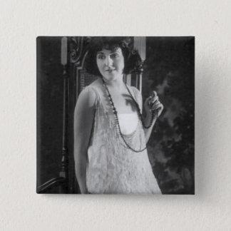 Vintage 1920s Women's Flapper Fashion 15 Cm Square Badge