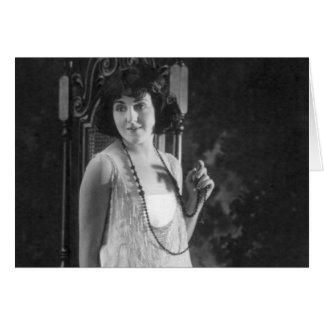 Vintage 1920s Women's Flapper Fashion Card