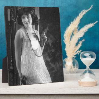 Vintage 1920s Women's Flapper Fashion Plaque