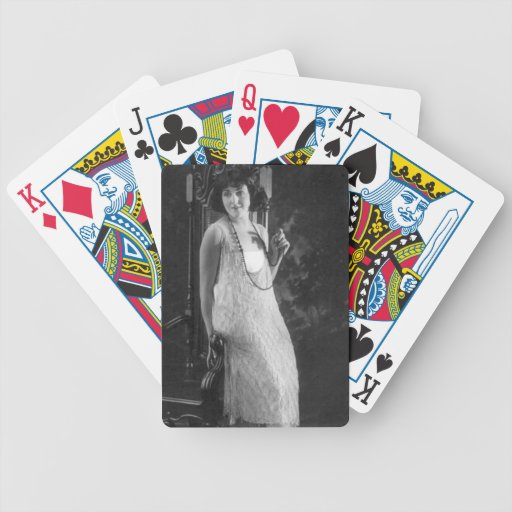 Vintage 1920s Women's Flapper Fashion Bicycle Playing Cards