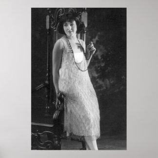 Vintage 1920s Women's Flapper Fashion Poster