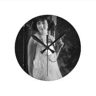 Vintage 1920s Women's Flapper Fashion Wallclock