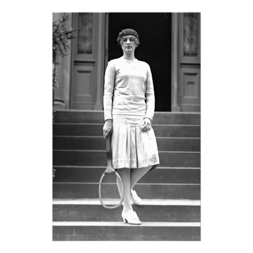 Vintage 1920s Women's Tennis Fashion Personalized Stationery