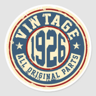 Vintage 1926 All Original Parts Classic Round Sticker