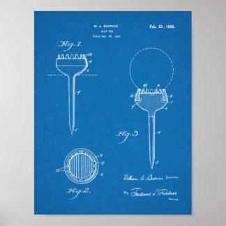 Vintage 1926 Golf Ball Tee Design Patent Art Print