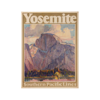 Vintage 1926 Yosemite Southern Pacific Lines Wood Poster