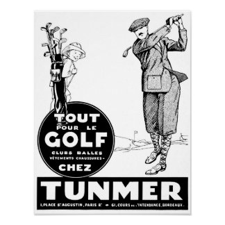 Vintage 1928 French Golf Advertisement Poster