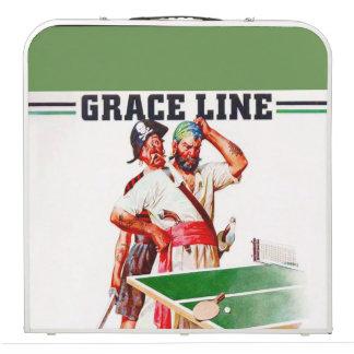 """""""Vintage 1928 Grace Line"""" Beer Pong Table"""