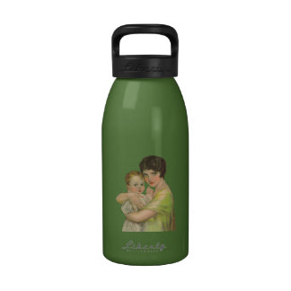 Vintage 1930's Mother Holding Baby Mother's Day Drinking Bottle