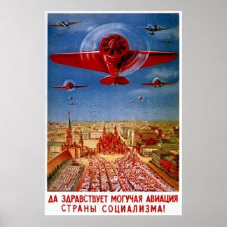 Vintage 1930 s Soviet Propaganda Poster