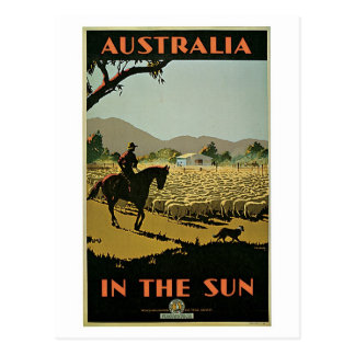 Vintage 1930s Australia travel advert Postcard