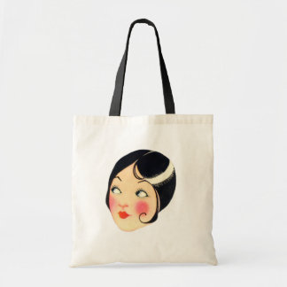 Vintage 1930's Flapper Woman Tote Bag
