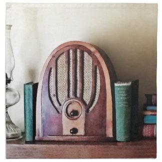 Vintage 1930s Radio Napkin