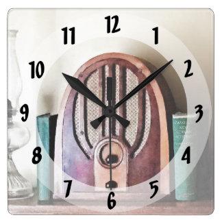 Vintage 1930s Radio Square Wall Clock
